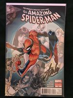 "AMAZING SPIDER-MAN #700 w/COA ""Ramos Wraparound Variant"" (Signed by Stan Lee)"