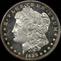 1886 $1 MS66+DMPL PCGS