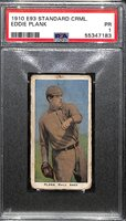 1910 Standard Caramel E93 Eddie Plank (HOF), Philadelphia A's, Graded PSA 1
