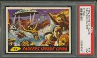 "1962 Mars Attack #15 Saucers Invade China PSA 7 NM """"1962 Mars Attack #15 Saucers Invade China PSA 7 NM """""