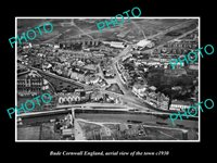 OLD 8x6 HISTORIC PHOTO OF BUDE CORNWALL ENGLAND AERIAL VIEW OF TOWN c1930 2