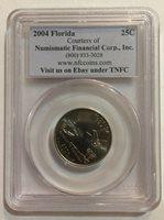 Sample Slab - PCGS 2004-P Florida quarter - Numismatic Financial Corp., Inc