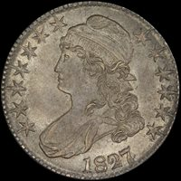 50C 1827/6 PCGS MS66 0-102 EX POGUE