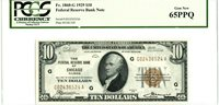 Fr 1860-G $10 1929 Federal Reserve Bank Note / Gem New 65 PPQ PCGS