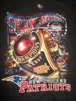 Super Bowl XXXVI NEW ENGLAND PATRIOTS Champions RING (LG) T-Shirt w  8c696c699