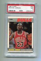 MICHAEL JORDAN CHICAGO BULLS 1987 FLEER #59 PSA 7 NM BASKETBALL CARD