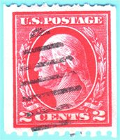 Scott# 442 2c- Washington (1914) COIL, SLWMK pf 10 USED F-VF $45