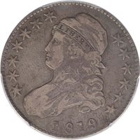 1819/8 50C Capped Bust Half Dollar PCGS VF20 CAC, Large 9