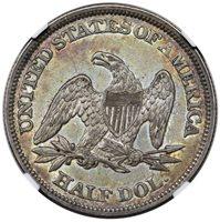 1859 Seated Half Dollar NGC AU-58 CAC ON HOLD