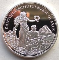 Winkelried Shoot 2018 Switzerland Shooting Thaler Proof 50 Francs Coin