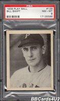 1939 Play Ball #129 BILL SWIFT PSA 8 NM-MT Pirates