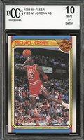 1988-89 fleer #120 MICHAEL JORDAN AS chicago bulls BGS BCCG 10 Graded Card