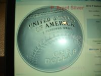 2014 National Baseball Hall of Fame $1 dollar silver and 1/2 dollar proof coins