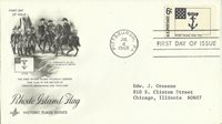 1968 RHODE ISLAND FLAG Historic Flag Series Pittsburgh FDC First Day Cover