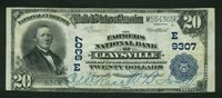 Fr No.652 $20 Pennsylvania 1902 9307 Claysville VF