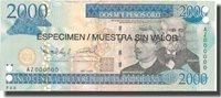 2000 Pesos Oro Dominican Republic Banknote, 2006, Specimen, Km:181s1
