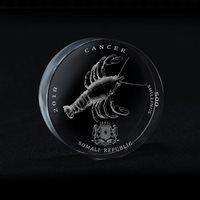 Somali Republic 500 Shillings, Signs of Zodiac Cancer Crystal Coin 2018, Rare