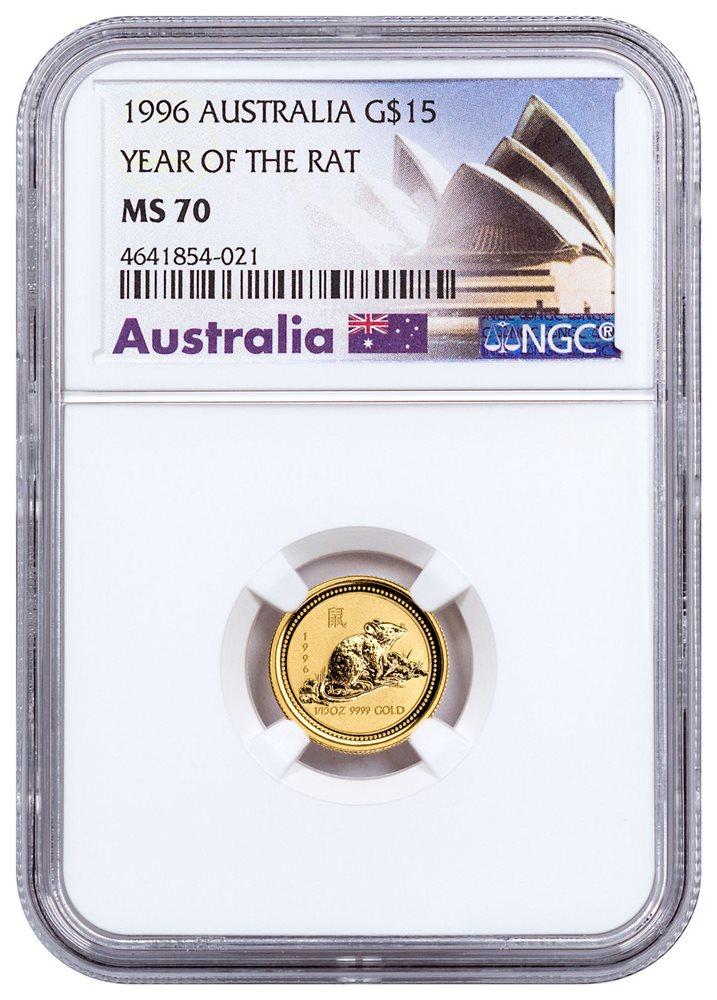 $15 NGC MS70 ER SKU50084 2018-P Australia Year of Dog 1//10 oz Gold Lunar S2
