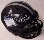 Ezekiel Elliott - Autographed Full Size Riddell Eclipse Speed Football Helmet - Dallas Cowboys - Beckett BAS