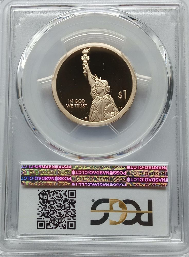 2018-W Proof American Silver Eagle PCGS PR70 DCAM First Strike Flag Label Onhand