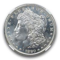 1880-S Morgan Dollar S$1 NGC MS66