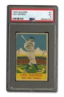 1933 DELONG #7 LOU GEHRIG - PSA EX 5
