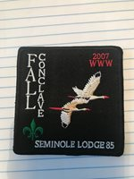 OA Lodge # 85 Seminole Gulf Ridge Council 2007 Fall Conclave