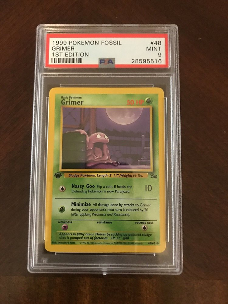 Pokemon Fossil 1st Edition Grimer Mint*