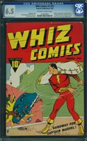 WHIZ COMICS #1 1940, 1st Captain Marvel & Origin! C.C. Beck cover and art.