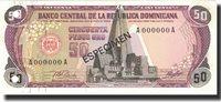 50 Pesos Oro Dominican Republic Banknote, 1978, Specimen, Km:121s1