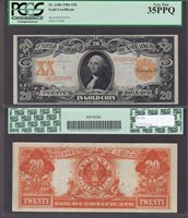 Fr#1186 $20 1906 H10205743 35PPQ A pristine PCGS holder and an attractive note with good color included.