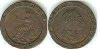 """English 2 Pence """"Cartwheel"""" 1797 aEF"""