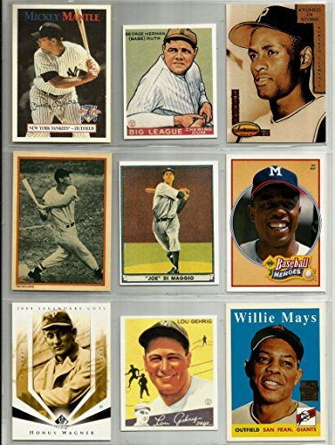 Mickey Mantle Babe Ruth 1933 Ted Williams Roberto Clemente Honus Wagner Lou Gehrig 1934 Willie Mays 1958 Hank Aaron Joe Dimaggio 1941 Superstar