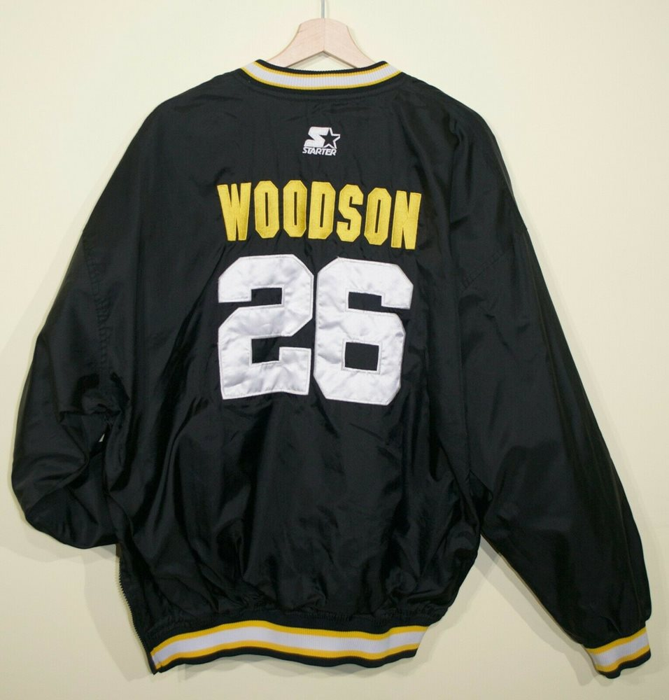 outlet store b3ef8 147e0 RARE VTG 90s Rod Woodson Pittsburgh Steelers Starter Pullover Jacket Mens  XL NFL