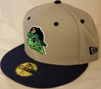 NWT NEW ERA Beloit Snappers gray 59FIFTY size 7 1/8 fitted cap hat MiLB baseball