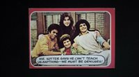 """Classic 1976 Card #49 Welcome Back Kotter Trading Card """"THE SWEAT-HOGS SPEAK"""""""