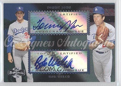 Tommy John Bob Welch Baseball Card 2006 Topps Co Signers Dual Autographs Cs 58