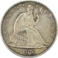 1876 50c Seated Half Dollar PCGS XF40
