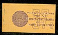 Scott#:BK84 ,720b Full Booklet of 2 panes. Furman BC9A, IVD (IVF). Panes centered VF/XF