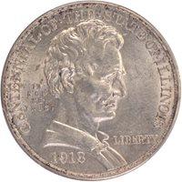 LINCOLN 1918 50C Silver Commemorative PCGS MS62