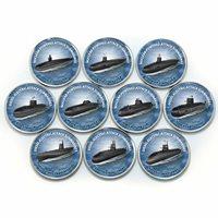 Zimbabwe 1 shilling set of 10 coins Warships 2020
