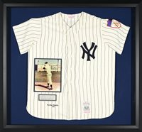 Mickey Mantle Autographed Display with Jersey