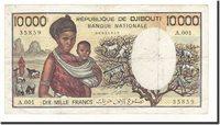 10,000 Francs 1984 Dschibuti Banknote, Km:39a
