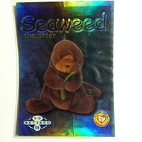aadf81ff879 1999 Beanie Babies Series II Retired Green Seaweed Collector Card