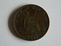 1868 Great Britain 1 Farthing Coin(F4)