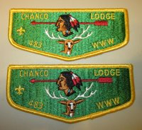 Two (2) Chanco Lodge flaps 483 - Excellent Condition