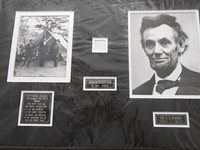 Original Hair From Abraham (Copy #1) and Mary Lincoln LINCOLN, Abraham (1809-1865)