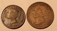 Canada/Newfoundland Lot 1890 10c Newfoundland, 1872H Canada Silver 5c