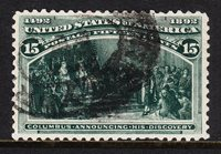 USA — SCOTT 238 — 15¢ COLUMBIAN — VF — SCV $70.00