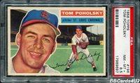1956 Topps #196 TOM POHOLSKY PSA 8.5 NM-MT+ Very Low Pop 1/3! Cardinals